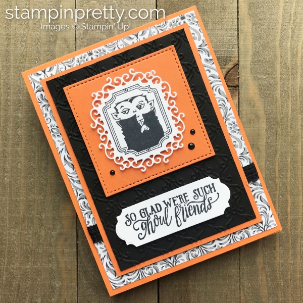 Create this Halloween card using the Monster Bash Suite from Stampin' Up! Card by Mary Fish, Stampin' Pretty