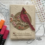 Create this handmade card using the Toile Christmas Bundle by Stampin