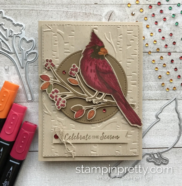 Create this handmade card using the Toile Christmas Bundle by Stampin' Up! Card created by Mary Fish, Stampin' Pretty