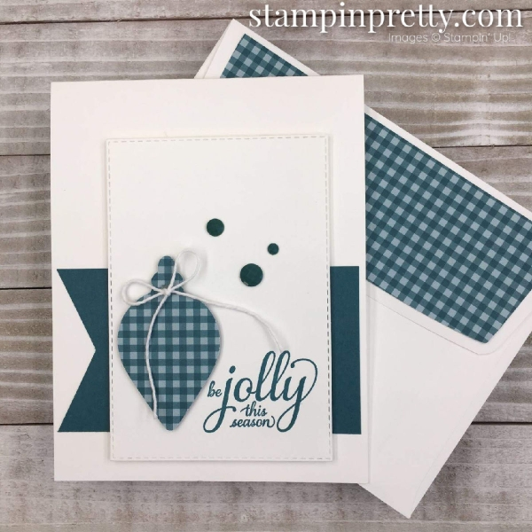 Gleaming Ornamets Punch Pack by Stampin' Up! Card created by Mary Fish, Stampin' Pretty