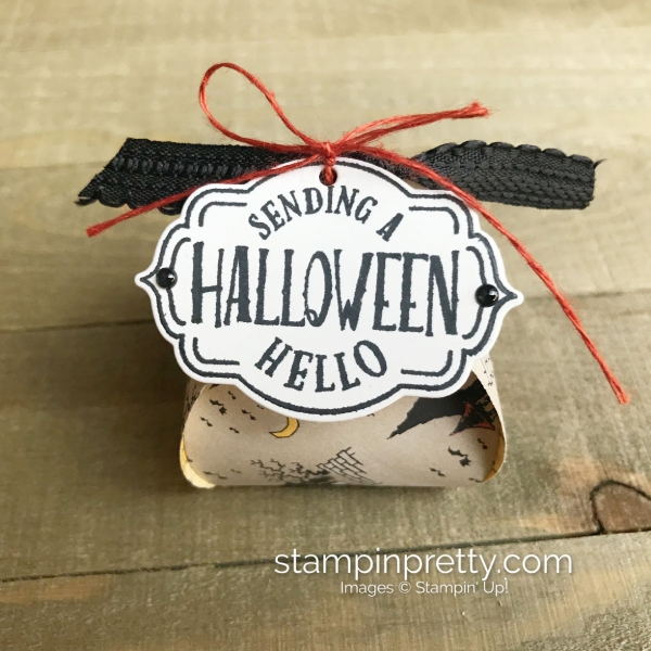 Mini Curvy Keepsake Halloween Treat Boxes with Tags, Tags, Tags from Stampin' Up! Created by Mary Fish, Stampin' Pretty Candy
