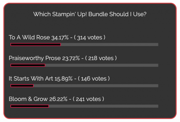 Poll Results for Which Bundle Should I Use?