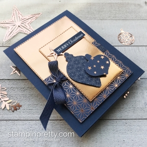 Sneak Peek! Brightly Gleaming Suite from Stampin' Up! Card created by Mary Fish, Stampin' Pretty
