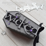 Wicked Dies and Coffin Treat Boxes by Stampin