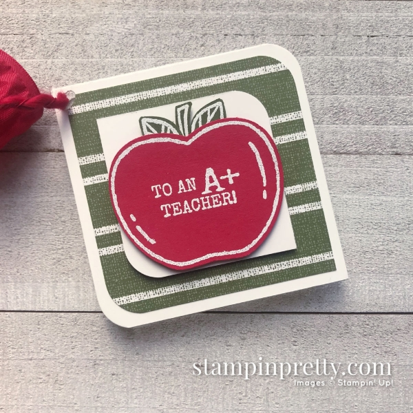 Create this Teacher's Gift using the Harvest Hellos Bundle from the 2019 Holiday Catalog. Created by Mary Fish, Stampin' Pretty