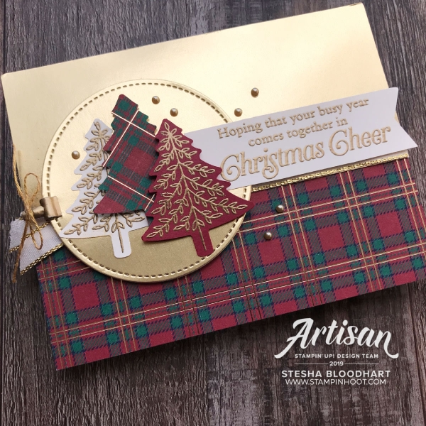 CASE the Catty - Perfect Plaid Bundle by Stampin' Up! Be Inspired Blog Hop September 2019 Card by Stesha Bloodhart, Stampin' Hoot!