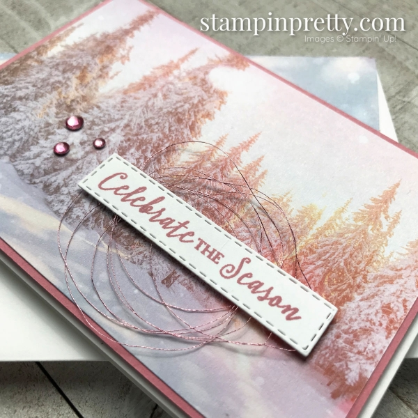 Feels Like Frost 6 x 6 Specialty DSP From Stampin' Up! Holiday Note Cards by Mary Fish, Stampin' Pretty