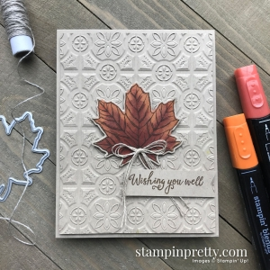 Gather Together Bundle & Tin Tile 3D Embossing Folder from Stampin' Up! Card by Mary Fish, Stampin' Pretty