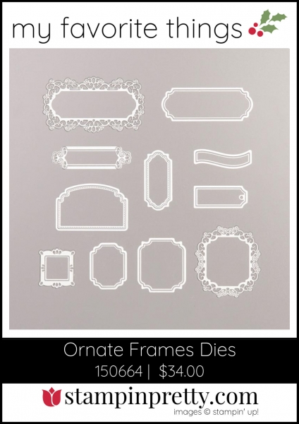 Mary Fish, Stampin' Pretty My Favorite Things 2019 Stampin' Up! Holiday Catalog - Ornate Frames Dies
