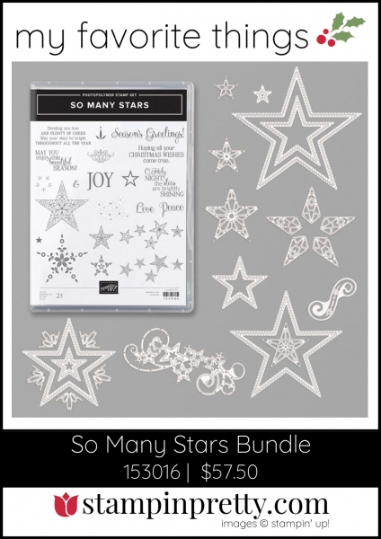 Mary Fish, Stampin' Pretty My Favorite Things 2019 Stampin' Up! Holiday Catalog - So Many Stars Bundle