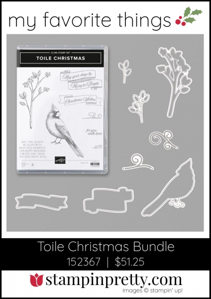 Mary Fish, Stampin' Pretty My Favorite Things 2019 Stampin' Up! Holiday Catalog - Toile Christmas Bundle