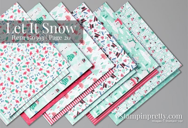 150393 Let It Snow Designer Series Paper by Stampin' Up!