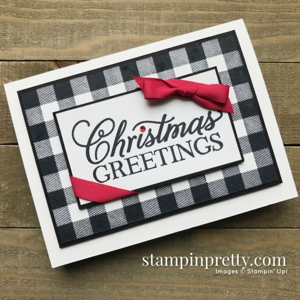 Buffalo Check & Greatest Part of Christmas Stamp Sets from Stampin' Up! Simple Christmas Card by Mary Fish, Stampin' Pretty