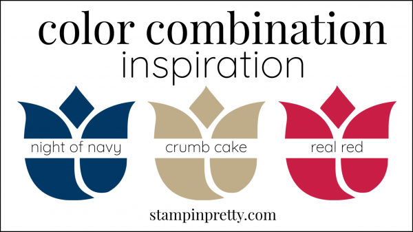 Color Combinations Night of Navy, Real Red, Crumb Cake