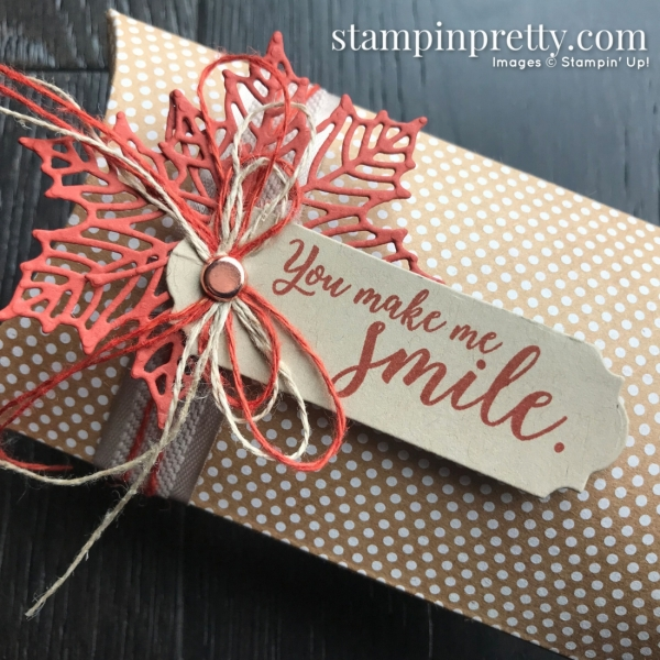Colorful Seasons, Seasonal Layers, and Kraft Pillow Box from Stampin' Up! Created by Mary Fish, Stampin' Pretty!