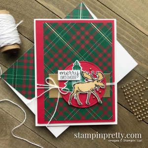 Create this Christmas Card using the Merry Moose Bundle from Stampin' Up! Card created by Mary Fish, Stampin' Pretty!