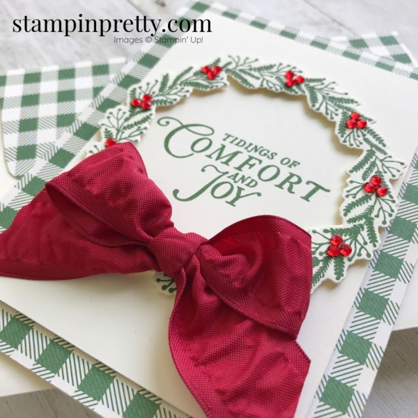 Create this Christmas Card using the Tidings All Around Bundle from Stampin' Up! Card by Mary Fish, Stampin' Pretty!