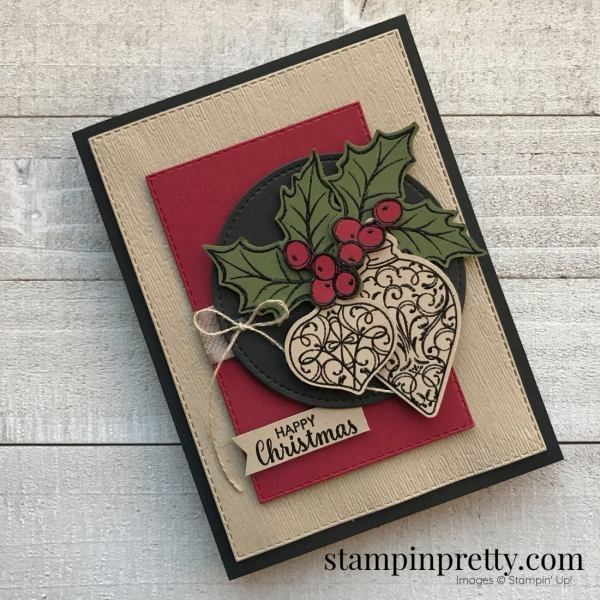 Create this Happy Christmas Card using the Christmas Gleaming Bundle from Stampin' Up! Card created by Stampin' Pretty, Mary Fish