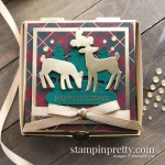 Detailed Deer Dies & Gold Mini Pizza Boxes from Stampin