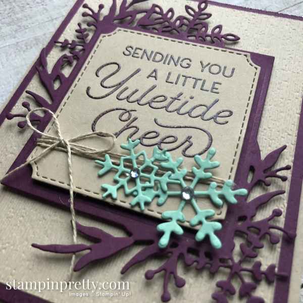 Frosted Foliage Bundle from Stampin' Up! Holiday Card created by Mary Fish, Stampin' Pretty!