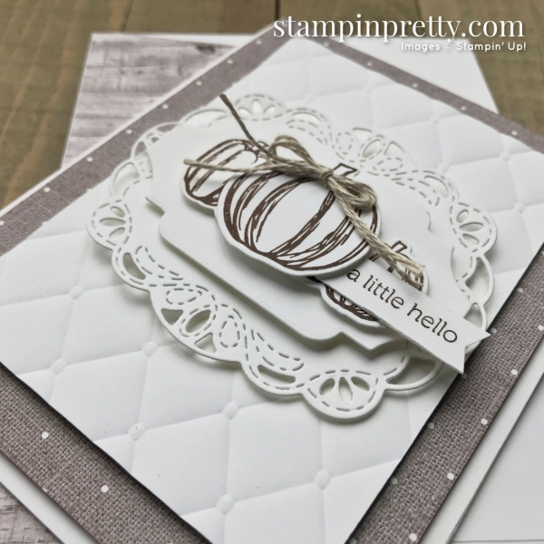 Gather Together Bundle from Stampin' Up! A Little Hello Card by Mary Fish, Stampin' Pretty!