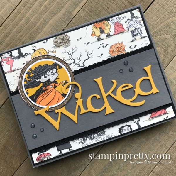 Monster Bash Designer Series Paper and Wicked Die by Stampin' Up! Card by Mary Fish, Stampin' Pretty