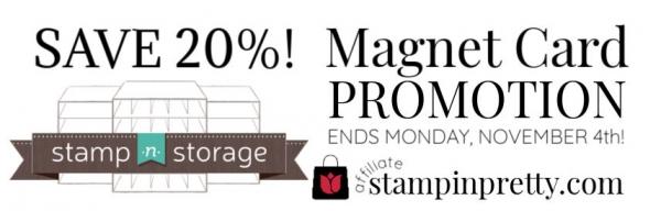 STAMP N STORAGE SALE 20% MAGNET CARD