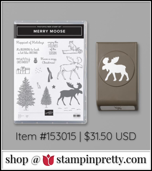 Merry Moose Bundle By Stampin' Up! Item 153015 $31.50 Shop with Mary Fish, Stampin' Pretty