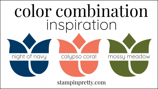Color Combinations Night of Navy, Calypso Coral, Mossy Meadow