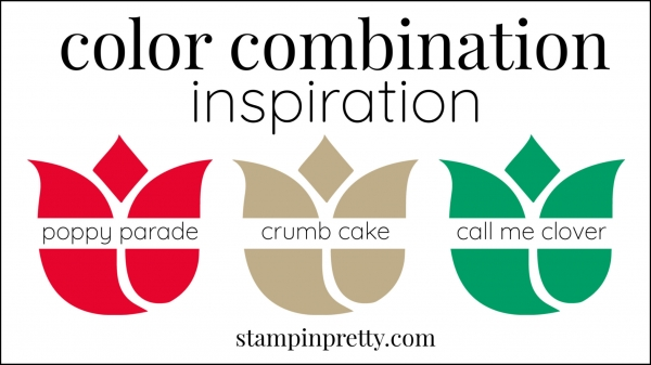 Color Combinations Poppy Parade, Mint Macaron, Crumb Cake