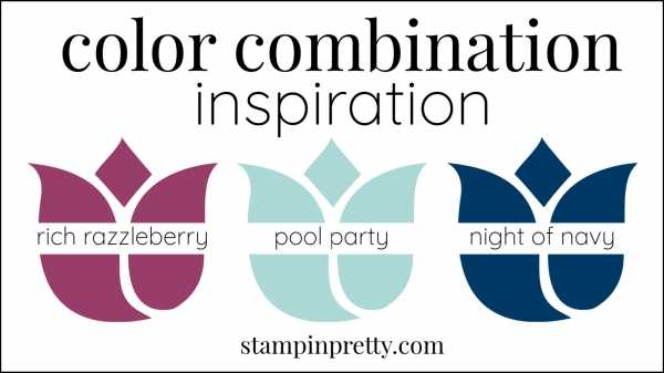 Color Combinations Rich Razzleberry, Night of Navy, Pool Party