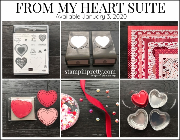 From My Heart Suite by Stampin' Up! Available January 3, 2020 Mini Catalog