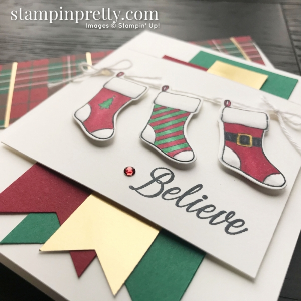 Holly Jolly Christmas Bundle by Stampin' Up! Christmas Card by Mary Fish, Stampin' Pretty