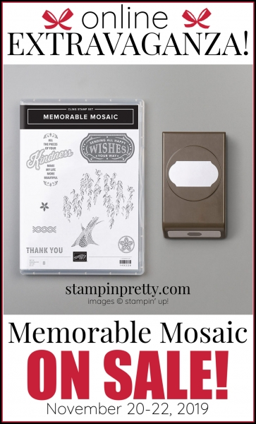 Online Extravaganza 151063 Memorable Mosaic by Stampin' Up!