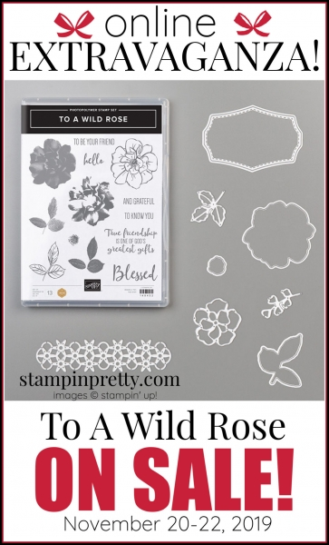 Online Extravaganza 151073 To A Wild Rose by Stampin' Up!