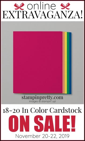 Online Extravaganza 18-20 In Color Cardstock