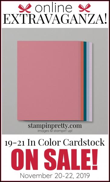 Online Extravaganza 19-21 In Color Cardstock