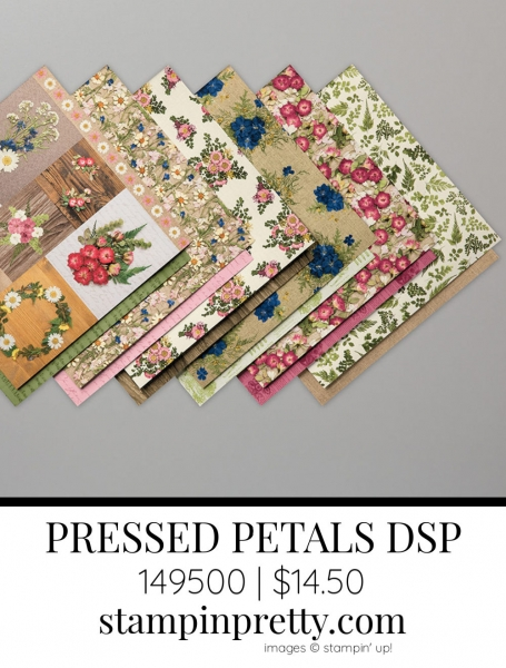 PRESSED PETALS Specialty Designer Series Paper From Stampin' Up! 149500 $14.50