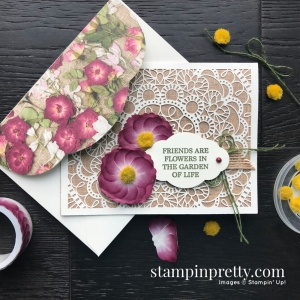 Pressed Petals Washi Tape Flowers from Stampin' Up! Friend Card from Mary Fish, Stampin' Pretty