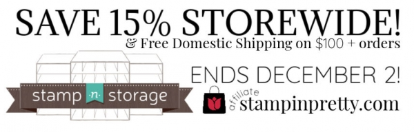 STAMP N STORAGE SALE 15% Storewide & Free Shipping