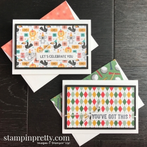 Birthday Bonanza & Country Club Designer Series Paper by Stampin' Up! 2020 Mini Catalog. Note Card by Mary Fish, Stampin' Pretty