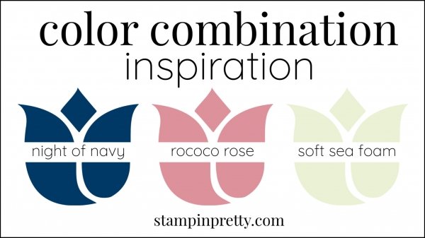 Color Combinations Rococo Rose, Night of Navy, Soft Sea Foam