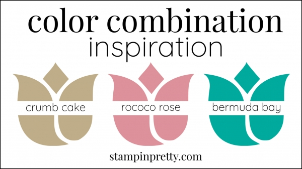 Color Combinations Rococo Rose, crumb cake, bermuda bay