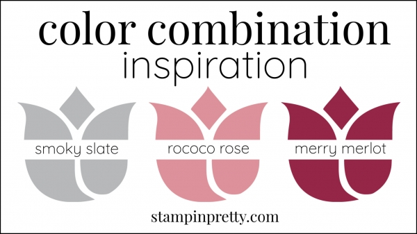 Color Combinations Rococo Rose, smoky slate, merry merlot