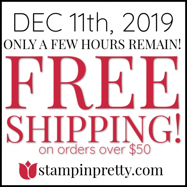 Free Shipping - Few Hours Left!