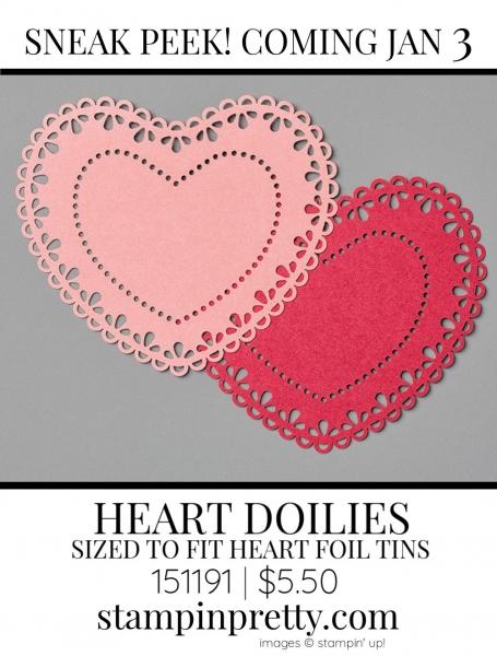 Heart Doilies by Stampin' up! 151191 Sneak Peek