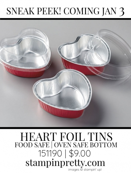 Heart Foil Tins by Stampin' up! 151190 Sneak Peek