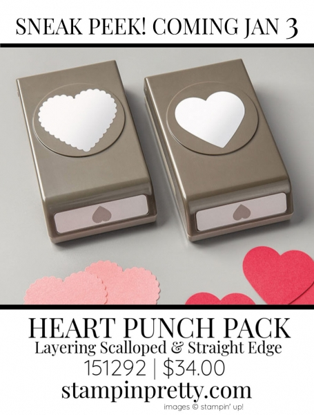 Heart Punch Pack by Stampin' up! Sneak Peek 151292