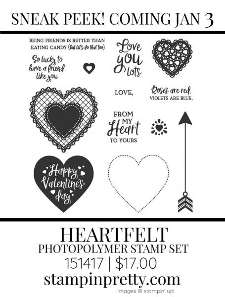 Heartfelt Stamp Set by Stampin' up! 151417 Sneak Peek