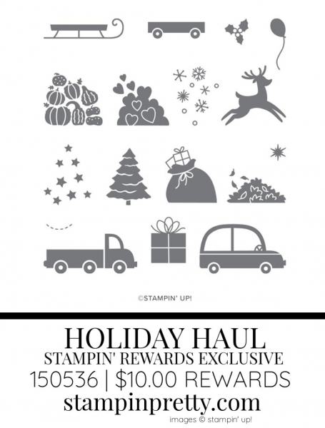 Holiday Haul Stampin' Rewards Exclusive Stamp Set 150536